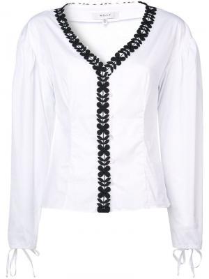 Блузка с цветочным принтом Milly. Цвет: белый