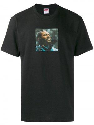 Футболка Marvin Gaye Supreme. Цвет: черный