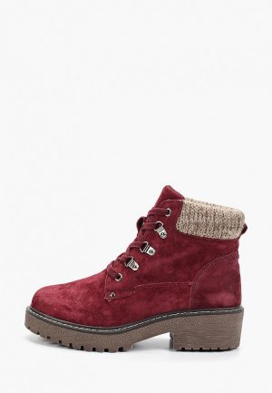 Ботинки Crosby. Цвет: бордовый