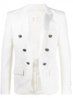 Пиджак с декоративными пуговицами Balmain. Цвет: белый