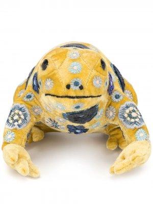 Мягкая игрушка в виде лягушки с вышивкой Anke Drechsel. Цвет: желтый