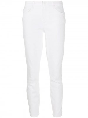 Укороченные джинсы Looker Mother. Цвет: белый