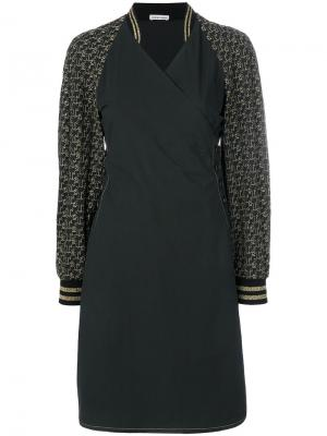 Спортивное платье из поплина Tomas Maier. Цвет: чёрный