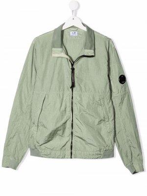 Куртка с нашивкой-логотипом C.P. Company Kids. Цвет: зеленый