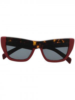 Солнцезащитные очки в оправе кошачий глаз Marni Eyewear. Цвет: красный