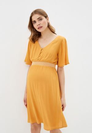 Платье Mamalicious. Цвет: желтый