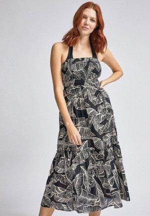 Платье пляжное Dorothy Perkins. Цвет: черный