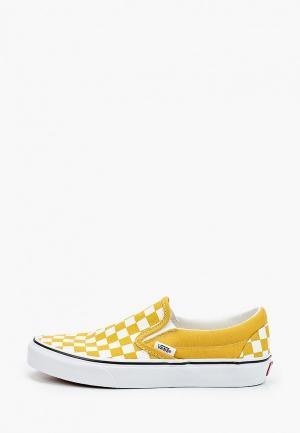 Слипоны Vans. Цвет: желтый