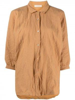 Рубашка с жатым эффектом Mes Demoiselles. Цвет: оранжевый