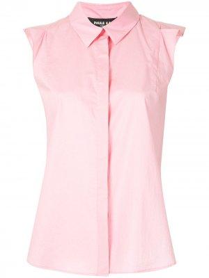 Блузка без рукавов с потайной застежкой Paule Ka. Цвет: розовый