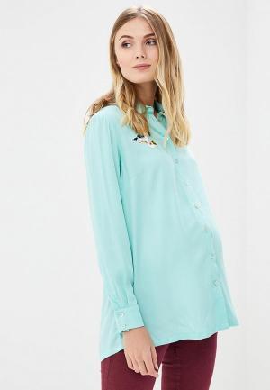 Блуза MammySize. Цвет: бирюзовый