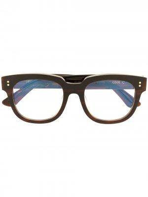 Очки Una C 84 в квадратной оправе Gentle Monster. Цвет: коричневый