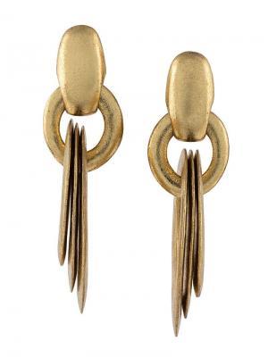 Круглые серьги-подвески Monies. Цвет: металлик
