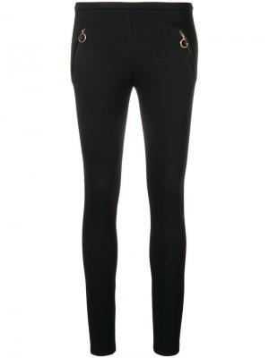 Леггинсы с карманами на молнии Emilio Pucci. Цвет: черный