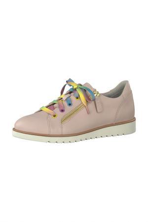 Ботинки на шнурках JANA. Цвет: розовый