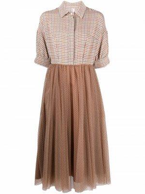 Платье миди с принтом Antonio Marras. Цвет: коричневый