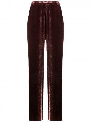 Бархатные брюки Etro. Цвет: розовый