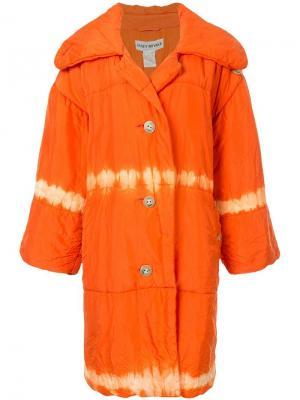 Дутое пальто Issey Miyake Pre-Owned. Цвет: оранжевый