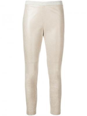 Укороченные брюки скинни Fabiana Filippi. Цвет: бежевый