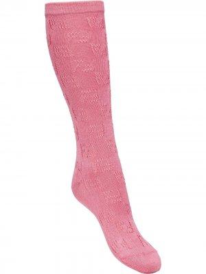 Носки с логотипом FF Fendi. Цвет: розовый