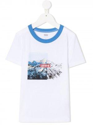 Levis Kids футболка с принтом Levi's. Цвет: белый