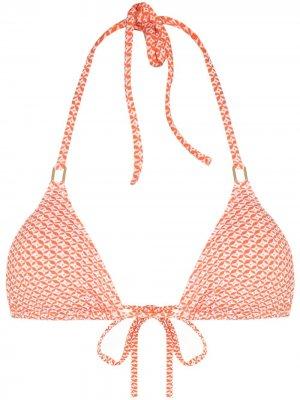 Лиф бикини Cancun с принтом Melissa Odabash. Цвет: оранжевый