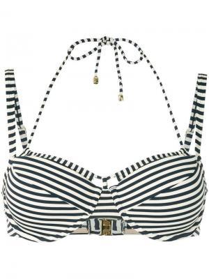 Holi Vintage striped double-strap bikini top Marlies Dekkers. Цвет: синий