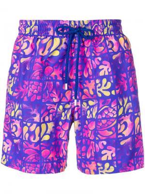 Плавательные шорты Moe Vilebrequin. Цвет: фиолетовый