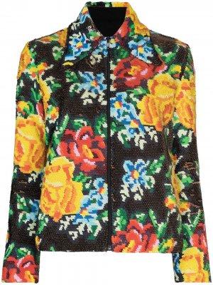 Куртка на молнии с пайетками Ashish. Цвет: черный