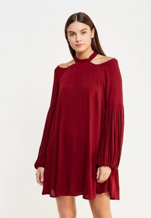 Платье Free People. Цвет: бордовый