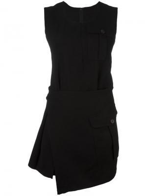 Короткое асимметричное платье Comme Des Garçons Vintage. Цвет: черный