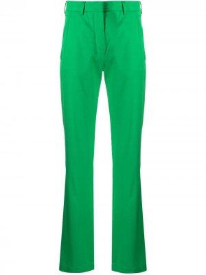 Расклешенные брюки с завышенной талией Laneus. Цвет: зеленый