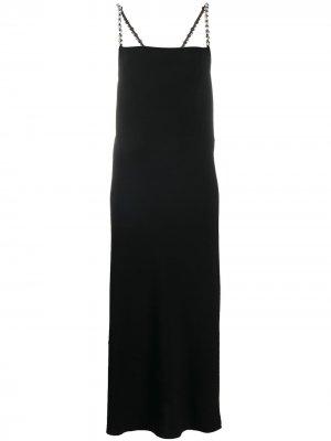 Декорированное платье макси Dorothee Schumacher. Цвет: черный