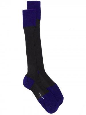 Двухцветные носки Marni. Цвет: синий