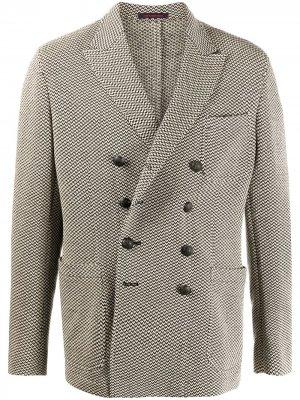 Двубортный пиджак Ziggy с узором The Gigi. Цвет: черный