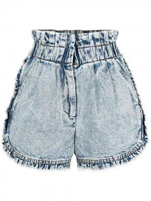 Джинсовые шорты Dax с оборками Sea. Цвет: синий