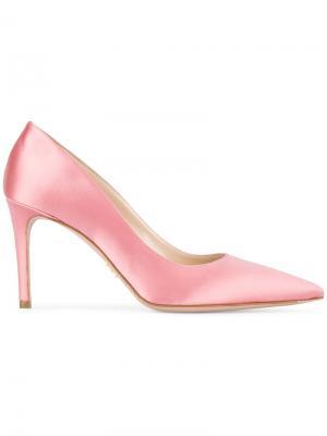 Туфли-лодочки с заостренным носком Prada. Цвет: розовый и фиолетовый