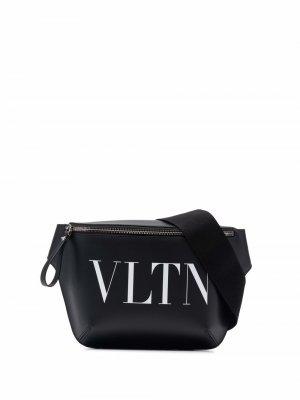 Поясная сумка с логотипом Valentino Garavani. Цвет: черный