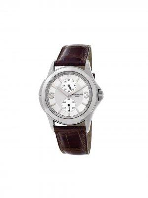 Наручные часы Travel Time 37 мм 2006-го года Patek Philippe. Цвет: серебристый