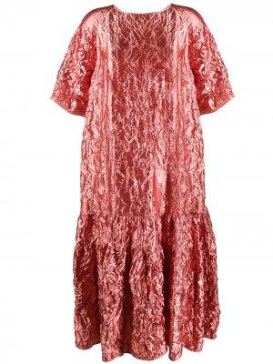 Платье-туника с жатым эффектом Rochas. Цвет: розовый