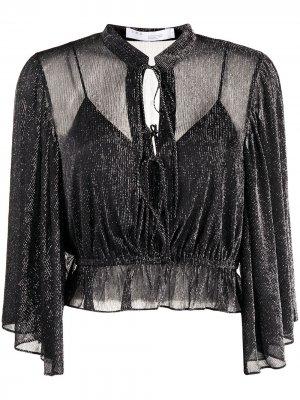 Укороченная блузка Trinea IRO. Цвет: серый