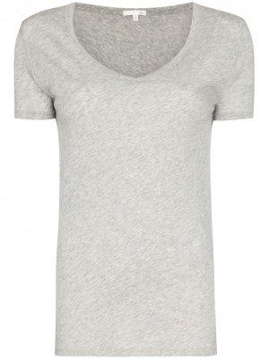 Пижамная футболка с V-образным вырезом Skin. Цвет: серый