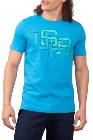 Футболка U.S. Polo Assn.. Цвет: голубой
