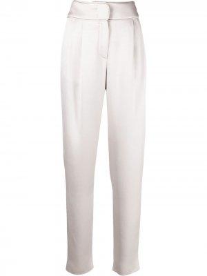 Зауженные брюки Giorgio Armani. Цвет: серый