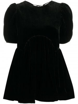 Блузка Kastanje с пышными рукавами Cecilie Bahnsen. Цвет: черный
