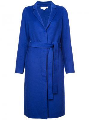 Однобортное пальто Robert Rodriguez. Цвет: синий