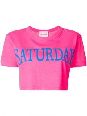 Укороченная футболка Saturday Alberta Ferretti. Цвет: розовый
