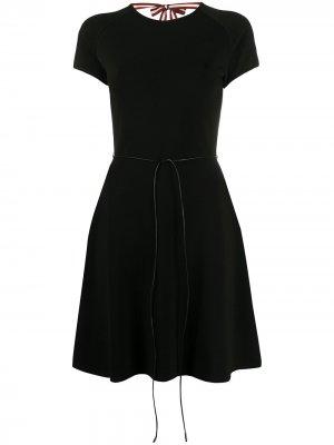 Приталенное платье с завязками Bally. Цвет: черный