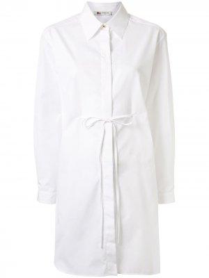 Платье-рубашка мини с завязками Ports 1961. Цвет: белый
