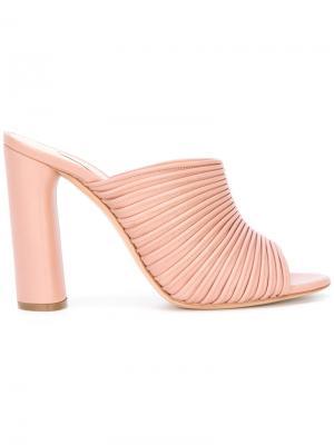 Мюли с открытым носком Casadei. Цвет: розовый